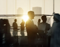 Business People Meeting Discussion Handshake Greeting Concept Royalty Free Stock Photos