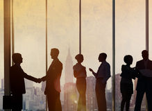 Business People Meeting Discussion Handshake Greeting Concept Stock Photos