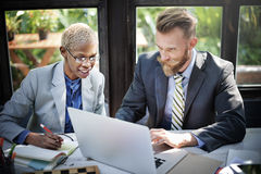 Business People Meeting Discussion Laptop Technology Concept Royalty Free Stock Image
