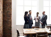 Business People Meeting Discussion Working Concept.  Royalty Free Stock Photography