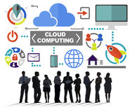 Business People Meeting Global Communications Cloud Computing Co. Ncept Stock Images