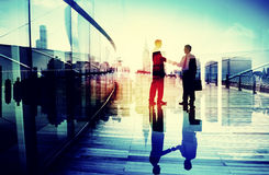 Business People Meeting Greeting Handshake Cityscape Concept Stock Image