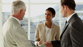 Business people meeting and greeting