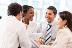 Business people in a meeting Royalty Free Stock Image