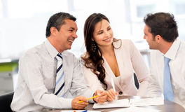 Business people in a meeting Stock Photography