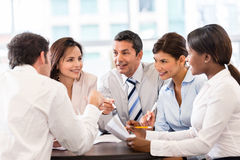 Business people in a meeting Royalty Free Stock Photos