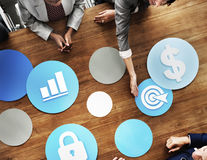Business People Meeting Growth Success Target Economic Concept.  Royalty Free Stock Image