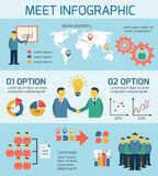 Business People Meeting Infographics Royalty Free Stock Photo