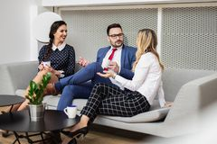 Business people Meeting In Modern Boardroom. stock photos