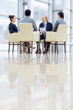 Business People Meeting in Modern hall Stock Photography