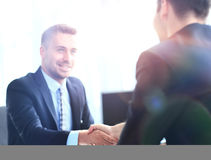 Business people meeting in a modern office Royalty Free Stock Photos