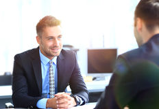 Business people meeting in a modern office Royalty Free Stock Photo