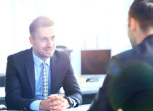 Business people meeting in a modern office Stock Images