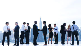 Business People Meeting in New York City Royalty Free Stock Image