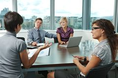 Business people meeting at office Royalty Free Stock Photos