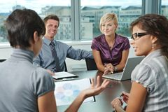 Business people meeting at office Royalty Free Stock Photo