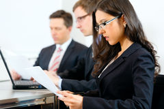 Business people during meeting in office Royalty Free Stock Image