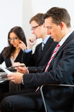 Business people during meeting in office Royalty Free Stock Images