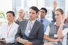 Business people during meeting Stock Photos