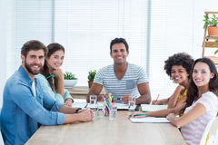 business people during a meeting Stock Photo