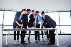 Business people in a meeting at office Stock Image