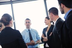 Business people in a meeting at office Royalty Free Stock Images