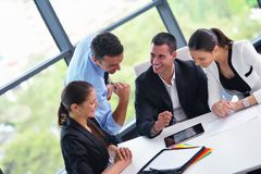 Business people in a meeting at office Royalty Free Stock Photo