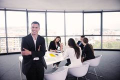 Business people in a meeting at office Stock Images