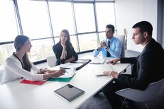 Business people in a meeting at office Royalty Free Stock Photos