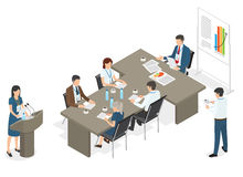 Business People on Meeting at Office Illustration Stock Photos