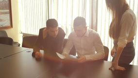 Business people meeting in office stock footage
