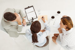Business people in meeting at office Royalty Free Stock Photo