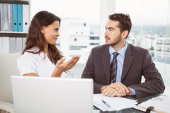 Business people in meeting at office Stock Image