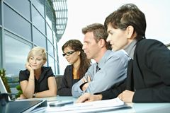 Business people meeting outdoor Stock Images