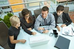 Business people meeting outdoor Stock Photography