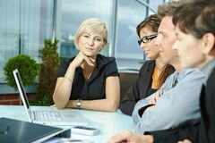 Business people meeting outdoor Stock Photo