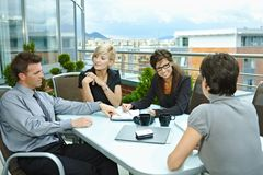 Business people meeting outdoor Royalty Free Stock Images