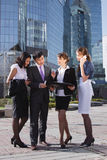 Business people meeting outdoor Stock Photos