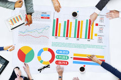Business People Meeting Planning Analysis Statistics Concept Royalty Free Stock Images
