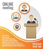 Business people meeting poster template Royalty Free Stock Photos