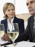 Business People In Meeting At Restaurant Stock Images