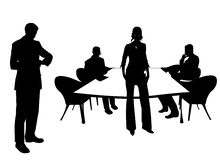 Business people at the meeting room Royalty Free Stock Photos