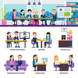 Business People Meeting Set Royalty Free Stock Image