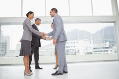 Business people meeting shaking hands royalty free stock image