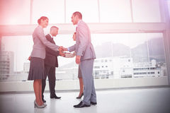 Business people meeting shaking hands Stock Photography