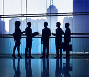 Business People Meeting Silhouette Cityscape Concept Stock Images