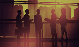 Business People Meeting Silhouette Concept Stock Images