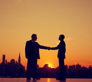 Business People Meeting Silhouette Concepts Stock Images