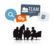 Business People Meeting with Speech Bubbles Stock Images