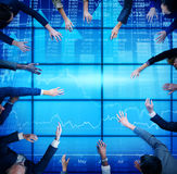 Business People Meeting Stock Market Team Concept Stock Photography